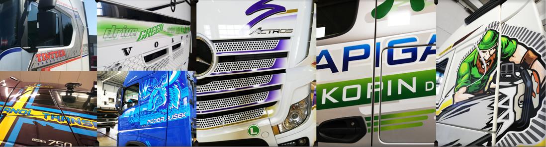 tovornjaki, natančnost lepljenja